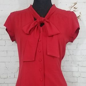 Banana republic red blouse